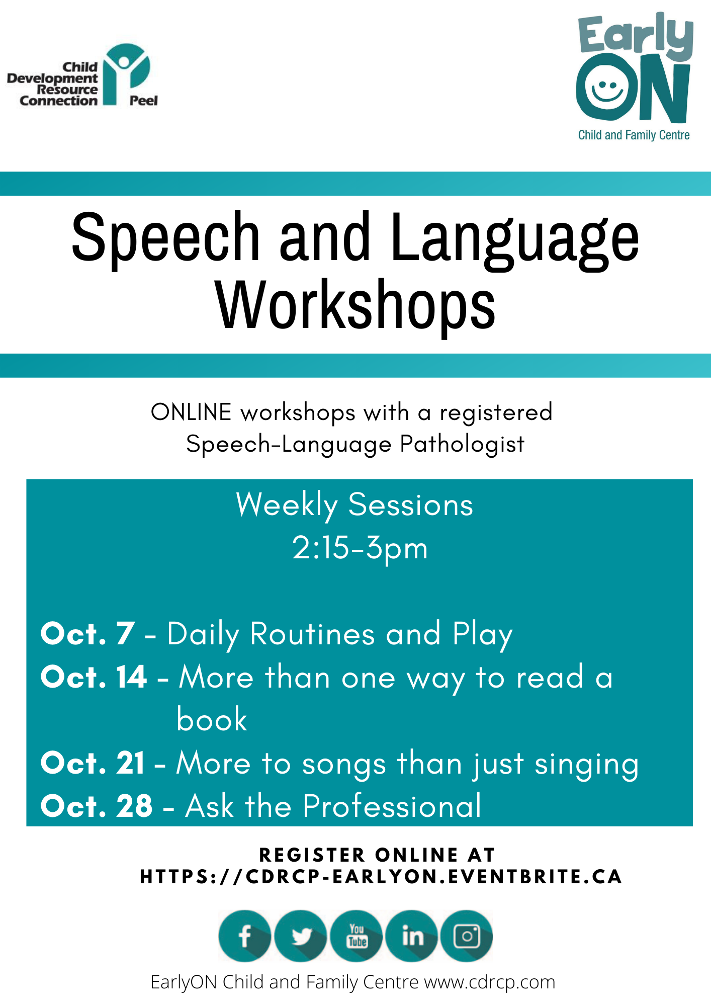 Speech and Language Flyer revised